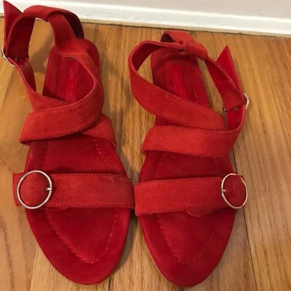 Zara red sandals size 7.5